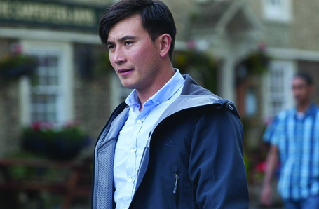 MATT McCOOEY reprises his role as DC WONG in Sky TV's AGATHA RAISIN with Ashley Jensen...