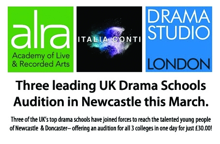 Three leading UK Drama Schools Audition in Newcastle this March
